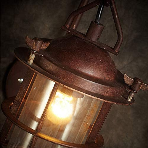 ZHTY Industrial Wall sconces Lighting Retro Lamps candal Lighting Indoor Home Lights Fixture with Glass Shade Cover Antique Copper Ambient Rust