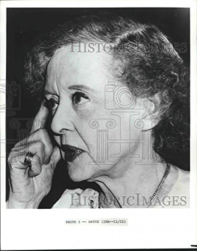 Vintage Photos Historic Images 1982 Press Photo 73-Year-Old Actress Bette Davis is Still A Superstar - 10.25 x 8 in