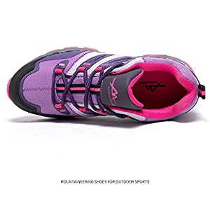 Mountbeyond Womens Waterproof Hiking Shoes Outdoor Breathable(Purple 6)
