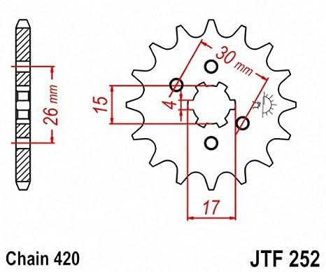 JT Sprockets JTF252 16 16T Steel Front Sprocket