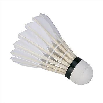 3er Set Slow Badminton Bälle Federball Weiß Sunflex Bälle