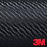 "Black 3M DI-NOC Carbon Fiber DINOC Flex Wrap CA-421 24""x12"""