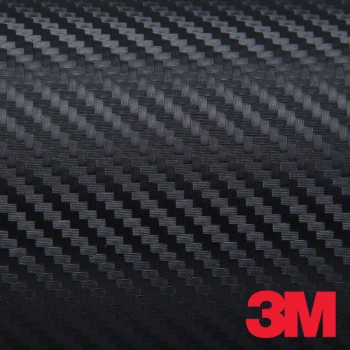 Black 3M DI-NOC Carbon Fiber DINOC Flex Wrap CA-421 24″x12″