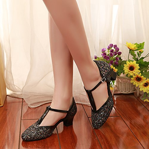Minitoo Damen Standard & Latein Black-5cm Heel