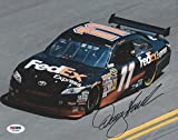 Signed Denny Hamlin Picture - 8x10 PSA DNA # X72338 - Autographed Photos