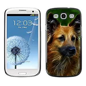 Hot Style Cell Phone PC Hard Case Cover // M00109509 Dog Digital Art Fractal Canine // Samsung Galaxy S3 S III SIII i9300