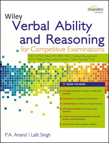 Buy wileys verbal ability and reasoning for competitive buy wileys verbal ability and reasoning for competitive examinations book online at low prices in india wileys verbal ability and reasoning for fandeluxe Image collections