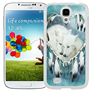 Beautiful Samsung Galaxy S4 Case ,Unique And Lovely Designed With Wolf Dream Catcher White Samsung Galaxy S4 Phone Case