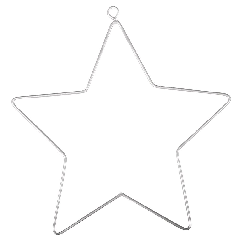 2 Hanging Metal Wire Stars for Decoration - 11.5cm | Metal Wire & Craft Hoops Crafty Capers