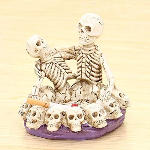 灰皿 , ハロウィーンレトロな灰皿スカルセット、カーニバルと喫煙者のデスクトップの装飾のためのお祝い灰皿 (サイズ : B)