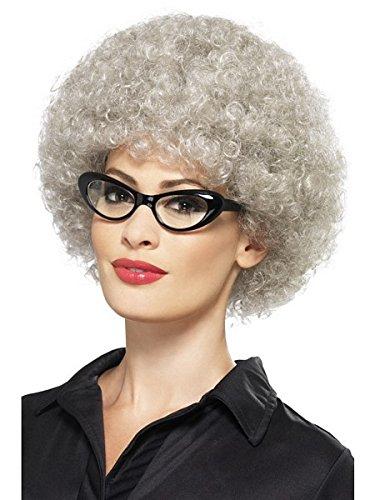 [Smiffy's Women's Granny Perm Wig, Grey, One Size] (Perm Wigs)