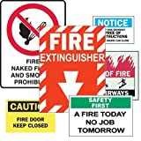Brady 119992, B-946 Fire Safety Sign 5X7 Grn/Wht/Blk 4 (Pack of 50 pcs)