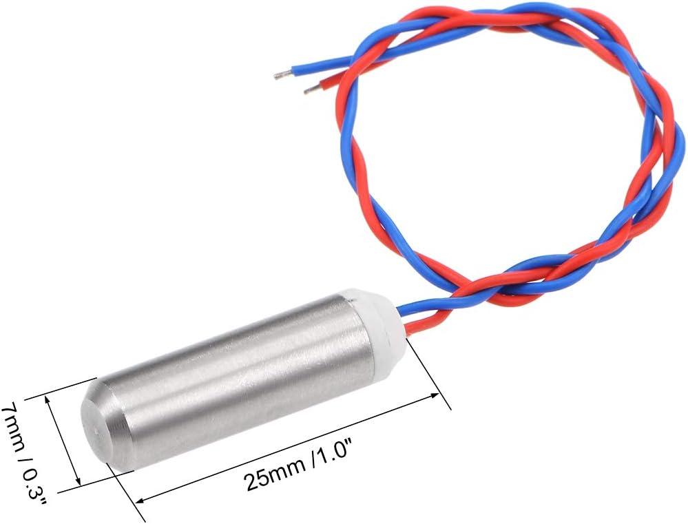 sourcing map Micro Mini Creux Coupelle Vibration Moteur DC 5v 26000 Rpm 10mA 25x7mm Sans Noyau Moteur Vibrant pour Bricolage /Électrique 5Pcs