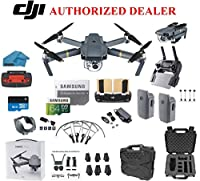 DJI Mavic Pro Drone Quadcopter 4K Professional Camera Gimbal Bundle Kit with 2 Batteries, 64GB SD Card + 3.0 Card Reader, Landing Gear, Prop Guards and Must Have Accessories with HardCase by dji mavic pro platinum
