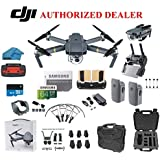 DJI Mavic Pro Drone Quadcopter 4K Professional Camera Gimbal Bundle Kit with 2 Batteries, 64GB SD Card + 3.0 Card Reader, Landing Gear, Prop Guards and Must Have Accessories with HardCase