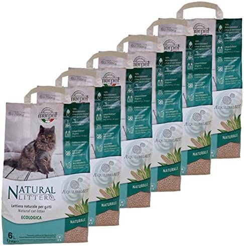 LordsWorld - Marpet - 6 Bolsas de Arena para Gatos Natural 100 ...