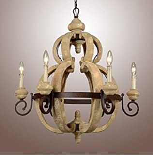 Vintage french country wood metal wine barrel chandelier pendant 28 vintage french country rustic carved wood rusty metal frame pendant chandelier lamp 6 light aloadofball Gallery