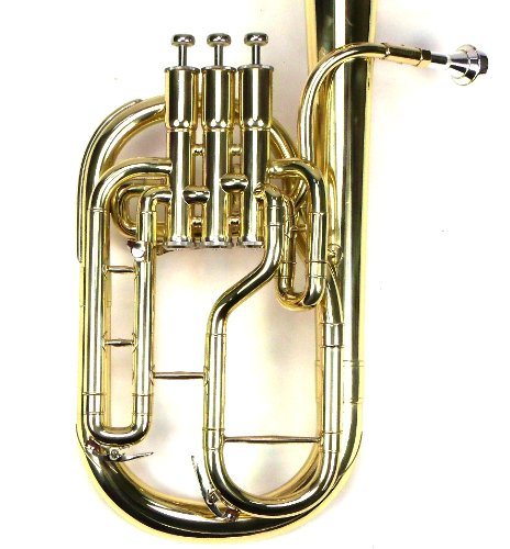Intermediate Monel Pistons Alto Horn w/Case & Mouthpiece-Gold Lacquer Finish by Moz (Image #7)