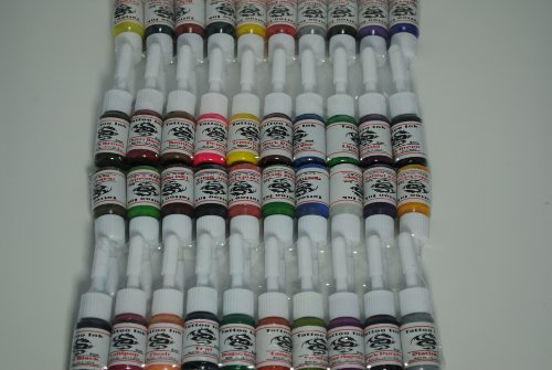 1TattooWorld OTW-C040 Premium Tattoo Ink Set, 40 Color, 5 mL (Color Brights Ink)