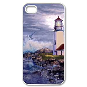HOPPYS Customized Print Lighthouse Pattern Back Case for iPhone 4/4S