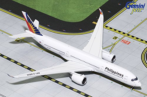 GeminiJets Philippine Airlines A350-900 RP-C3501 1:400 Scale Diecast Model Airplane, White