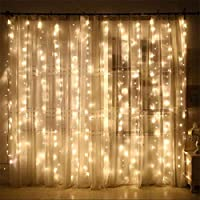 Guirlandes Lumineuses Rideau,300LED Rideau Lumière 3M*3M Guirlande d'Eclairage,8 Modes Rideau Lumineux Exterieur et Interieur Fenêtre Chaîne de Lampes pour Noël,Fête,Mariage,Anniversaire,Maison,Jardin