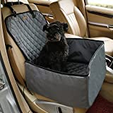 Car Pet Dog Cat Booster Seat Cover Travel Basket Bag Nylon Waterproof Pee Urine Rear Fore Carriage Front Passenger Seats (Gray)