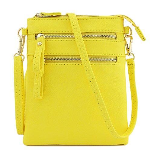 a multi tracolla tasca con da cerniera Borsa gialla polso dI4dF
