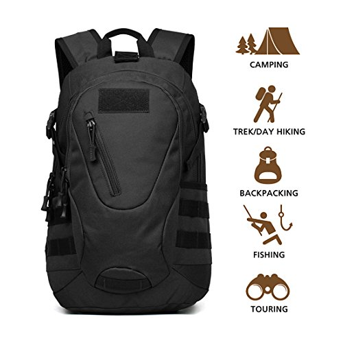 HISEA Hiking Backpack Daypack Military Tactical Backpack Assault Pack Army Molle Bug Out Bag 15L