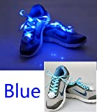 Topcabin 7 Colors LED Light Shoelace in 7 Colors Flash Lighting the Night for Party Hip-hop Dancing