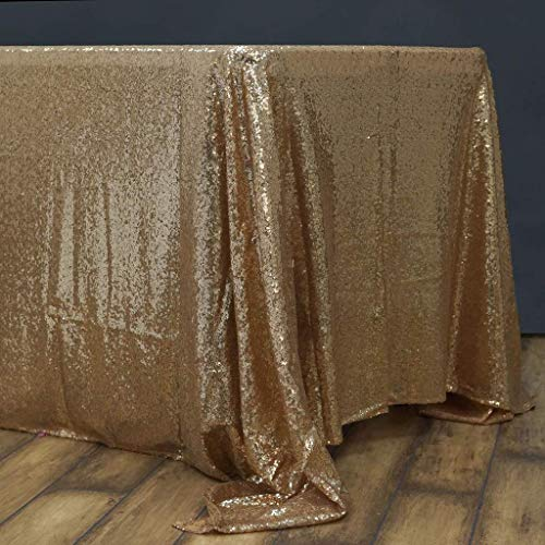 BalsaCircle 60x102-Inch Gold Rectangle Tablecloth for Wedding Party Cake Dessert Events Table Linens -