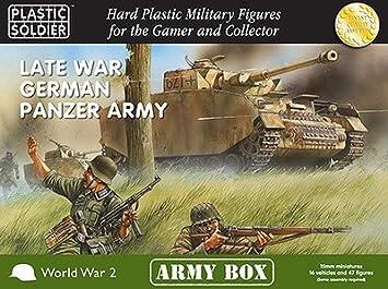 15mm Late War German Panzer Army (BLACK BOX) by Plastic Soldier Company: Amazon.es: Juguetes y juegos