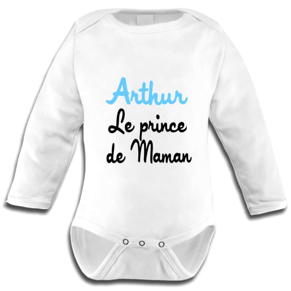 Les Lutins de Camille-Body bébé prénom, le prince de Maman