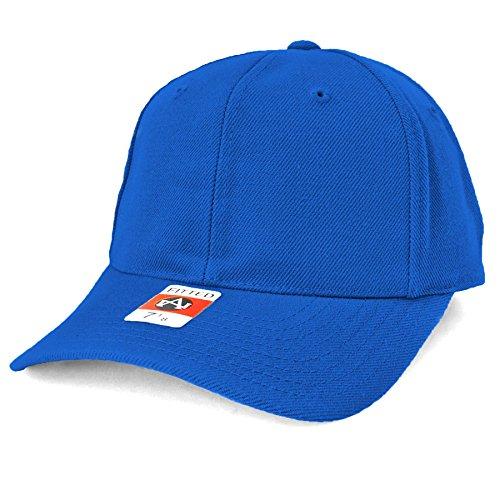 American Needle Wool Hat - American Needle Fitted Blank Wool Blend Hat - Royal - 7-1/4