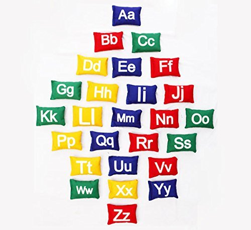 Cintz Alphabet Bean Bags Set, A - Z, Bean Bag Set