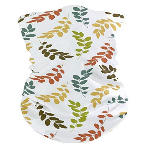 Pingshoes Leaf Pattern Colorful Balaclava Womens Headband Scarf Mens Versatile Bandana, Muffler, Neck Gaiter, Magic, Wristband - Head Scarf Bandit