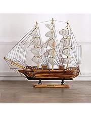 نموذج السفينة الشراعيه الخشبي للديكور