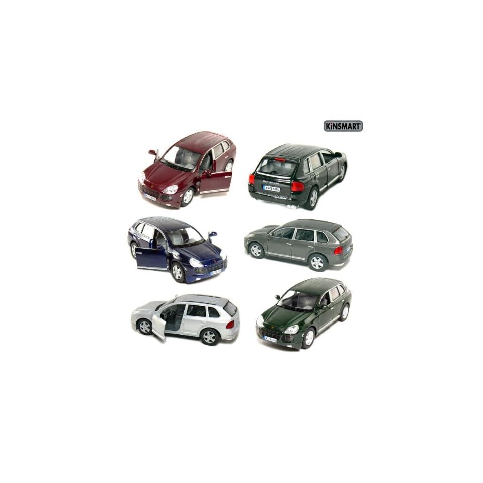 Set of 6 Cars 5 Porsche Cayenne Turbo 1/38 Scale, Die cast Metal