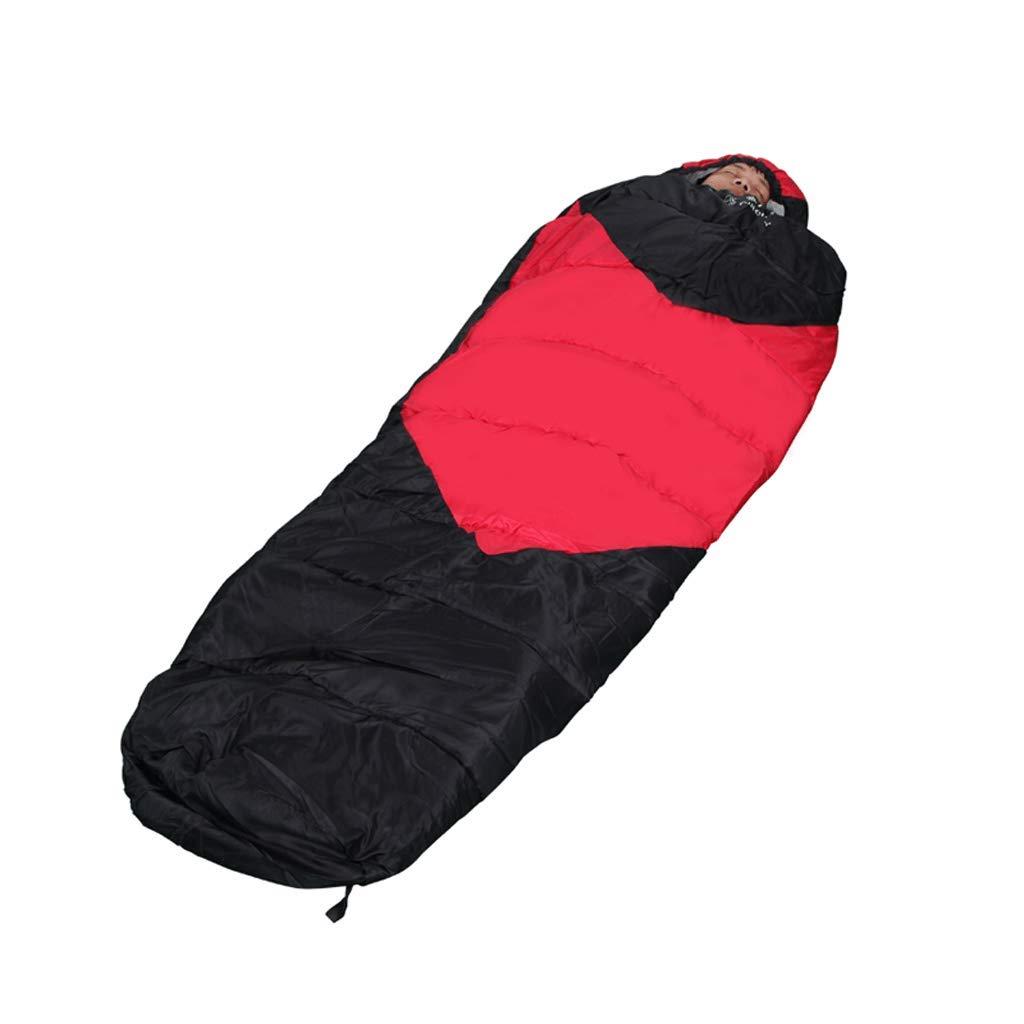 LCSHAN 寝袋ポリエステル防塵性大人屋外キャンプウォームシックニング (色 : 黒) B07L2M3G1D 黒