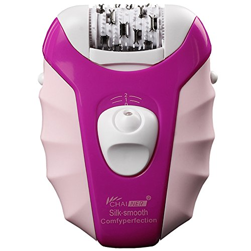 Electric Epilator Cordless Rechargeable Wet and Dry Women Hair Removal Facial Body Skin Care Tool 5 in 1 Foil Razor Shaver Callus Remover Epliater Head for Men Lady Bikini Line Armpit Underarm Legs Image