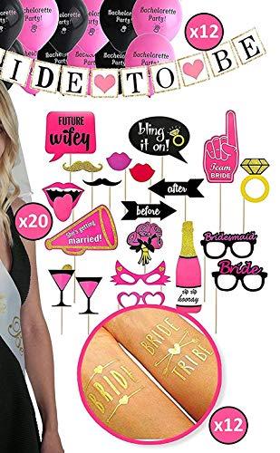 Bachelorette Party Supplies - Bridal Party Decorations - Bridal Shower Kit ()