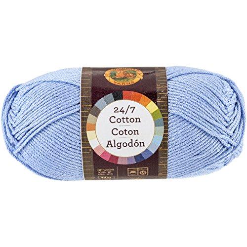 Lion Brand Yarn 761-107 24-7 Cotton Yarn, Sky (Cotton Yarn Sky)