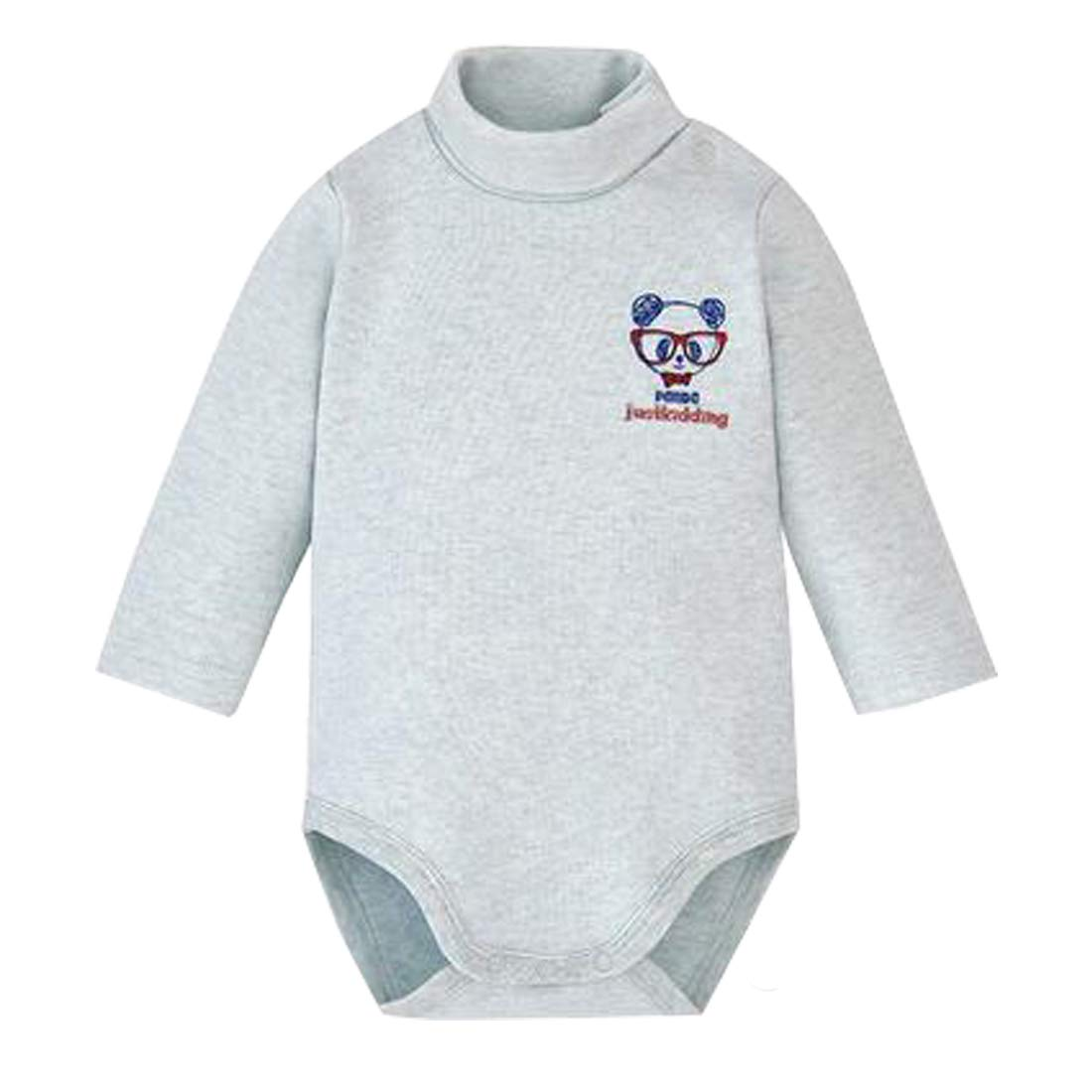 c304577db Amazon.com: Infant Baby Boys Girls Long Sleeves Thermal Onesies Turtle-Neck Bodysuit  Fall Winter Cloths Outfit: Clothing