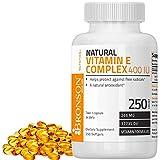 Bronson Natural Vitamin E Complex 400 I.U. (D-alpha Tocopherol), 250 Softgels