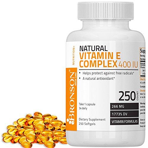 Bronson Natural Vitamin E Complex 400 I.U. (D-alpha Tocopherol), 250...