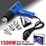 1500W 400-800 Dual Temperature Heat Air Gun Power Tool with 4 Nozzles