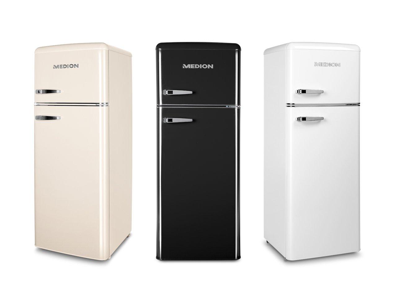 Retro Kühlschrank Amica Creme : Medion md 37258 kühl gefrierkombination 208 liter nutzinhalt 4