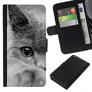 eJoy---La carpeta del tirón la caja de cuero de alta calidad de la PU Caso protector - HTC DESIRE 816 - --British Shorthair Siberian Blue Cat