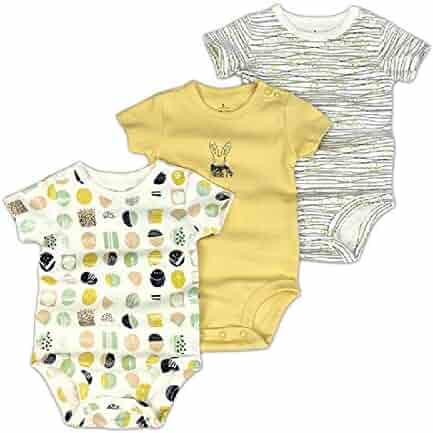 Clothing Maybe Baby Kids Infant Baby 4 Pack Long SleeveBodysuit Set