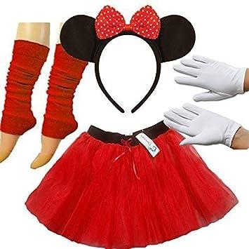 Minnie Mouse Tutu Skirt 80S Fancy Dress Fun Run Hen Party themed night DANCE